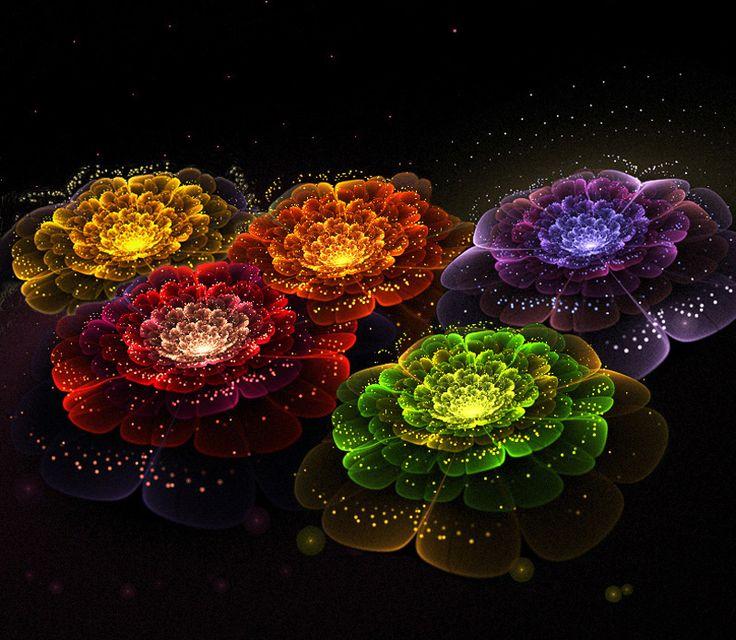 amazing rainbow fractal art - photo #27