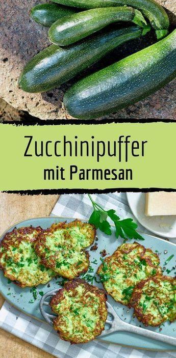 Low-Carb-Rezept für Zucchinipuffer mit Parmesan