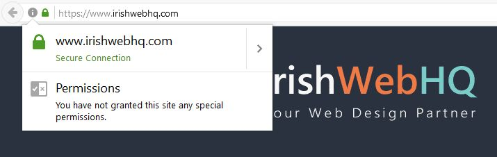 It's been a busy day working on our own website https://www.irishwebhq.com today.We installed a SSL certificate on our site for encrypting website data.     The prevalence of hacking and attempted breaches of security on all websites is ever increasing and damaging to all types of...