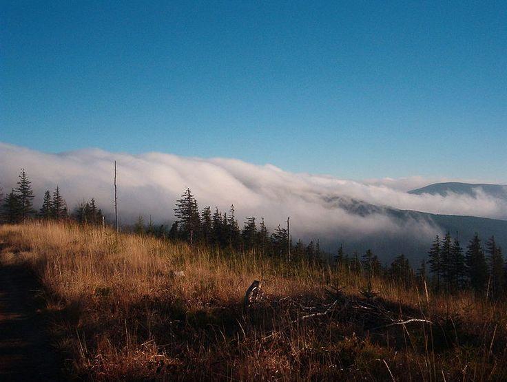 Beskiden - chmury - Beskid Śląski