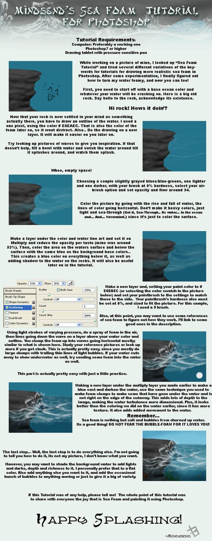 SeaFoam Tutorial for Photoshop by mindsend.deviantart.com
