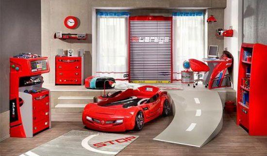 Детские кровати в виде машины