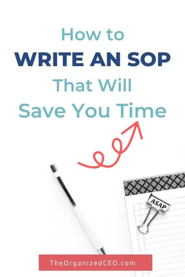 The Step By Step Guide For Writing An Sop Video Online Business Tools Starting A Book Writing