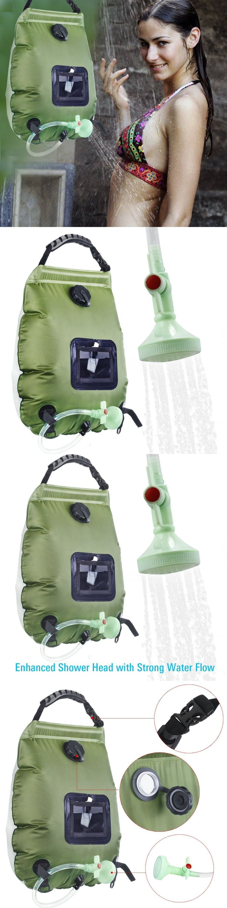 Portable Showers and Accessories 181396: Solar Camping Shower Bag 5-Gallon On-Off Switch Hot Water Heating Shower Head -> BUY IT NOW ONLY: $105.46 on eBay!