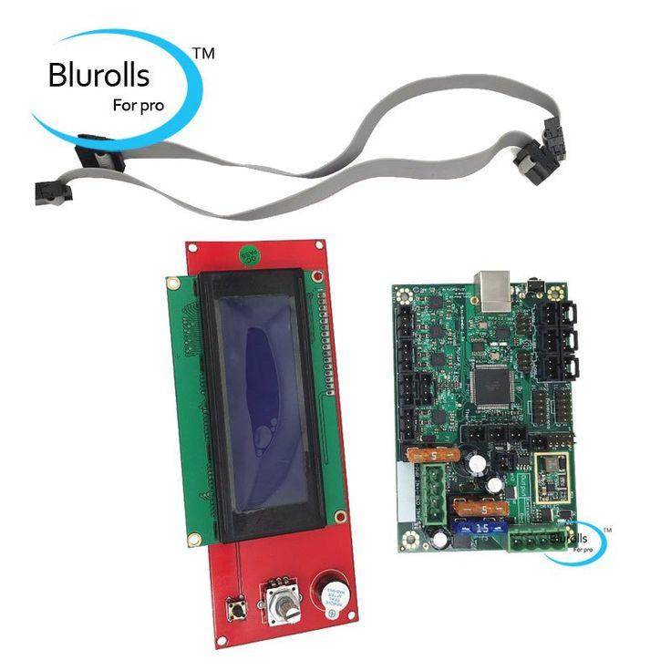 Buy US $99.00  Reprap Prusa i3  ramps 1.4 2004 LCD and Mini-Rambo 1.3a mainboard for Prusa i3 MK2 3d printer designed by Ultimachine  #Reprap #Prusa #ramps #MiniRambo #mainboard #printer #designed #Ultimachine  #CyberMonday