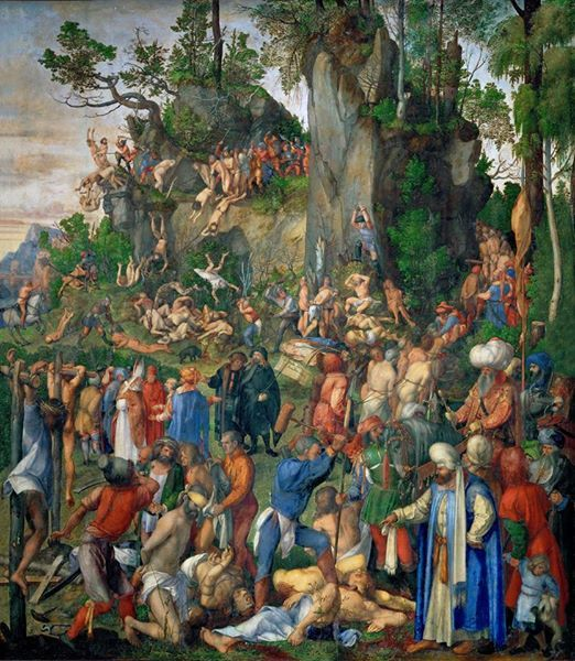 Albrecht Dürer _ Il massacro dei diecimila, 1508 (Kunsthistorisches Museum, Vienna)
