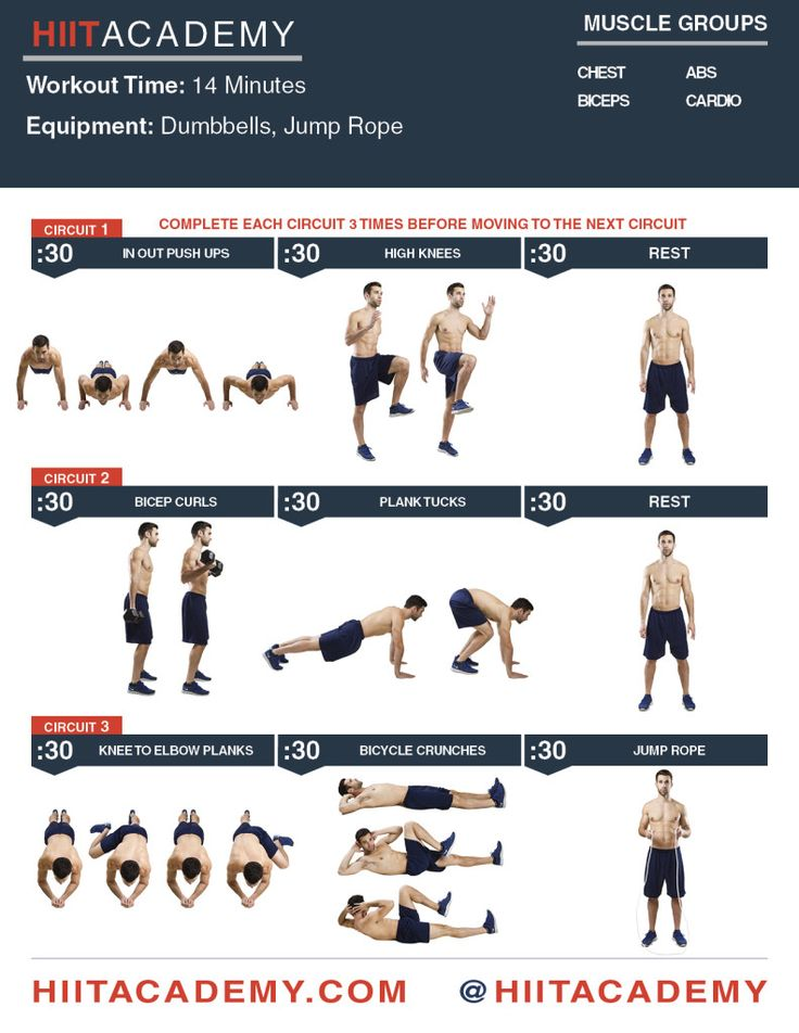 Chest+Bicep+Ab+HIIT+Workout