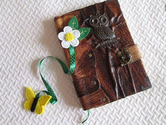 Bookmark - Felt bookmark - Flower bookmark- Ribbon bookmark - Book lover's gift - Segnalibro con fiore in feltro nastro verde a di TinyFeltHeart