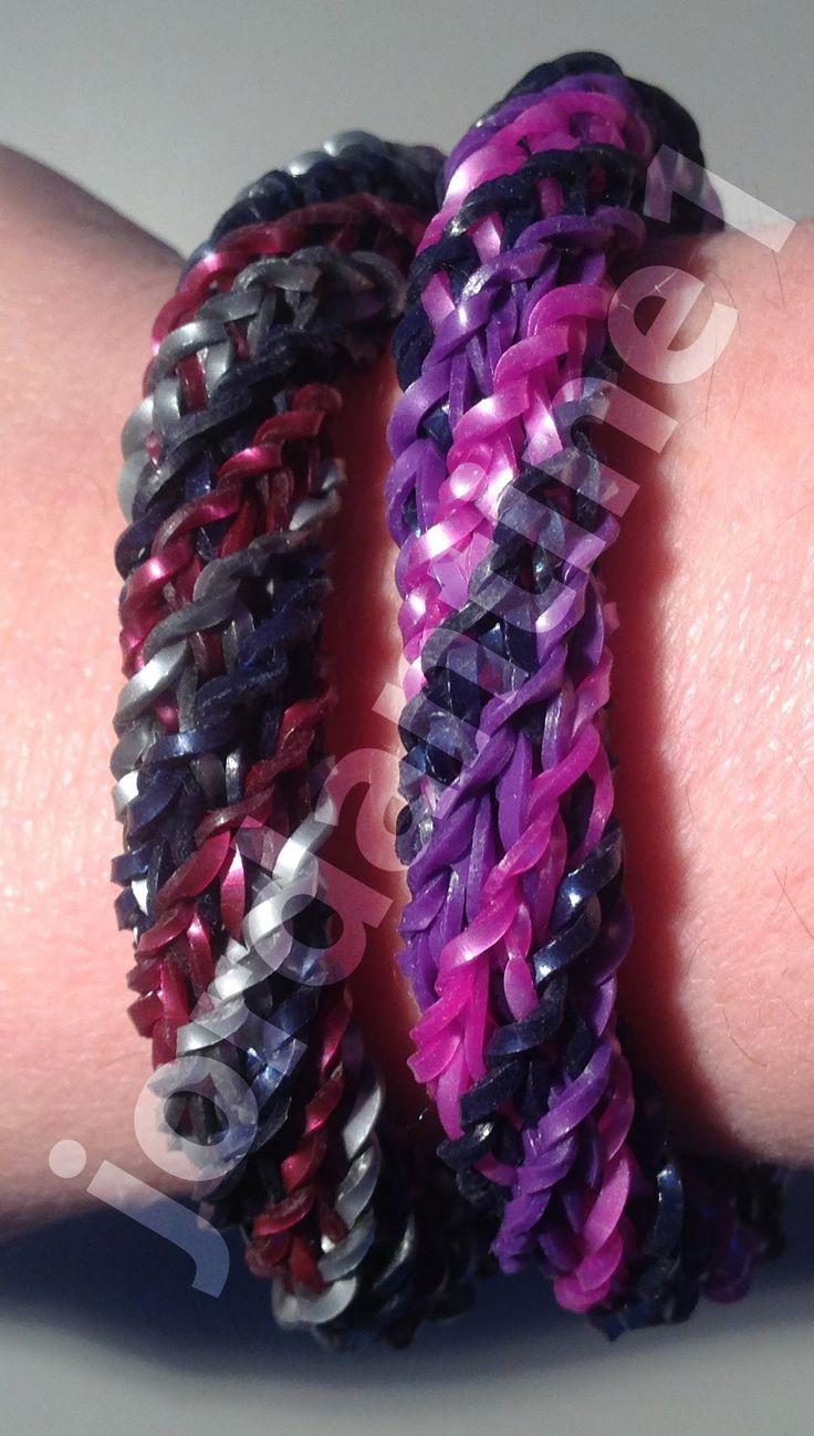 New Rainbow Loom Triple Cross Spiral Twist Bracelet