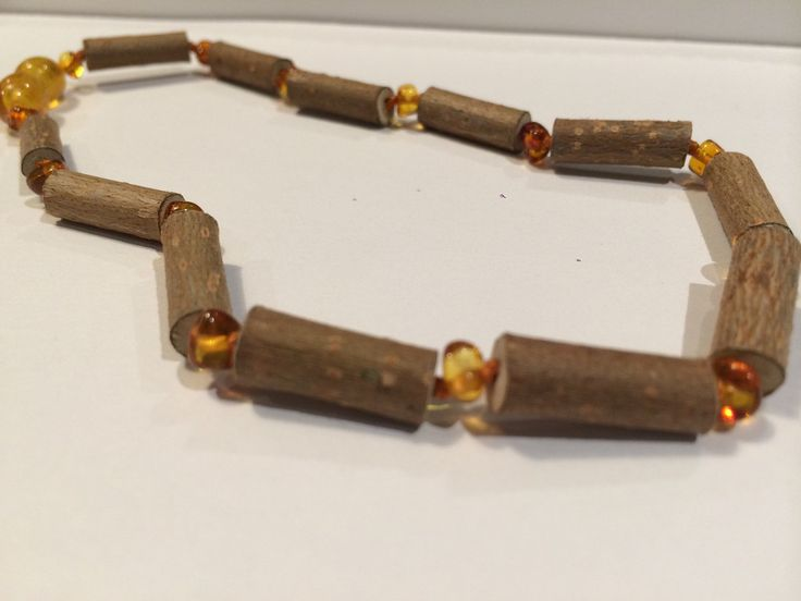 14 inch Hazelwood (For heart burn, acid reflux, eczema) Necklace for teenager or adult with polished honey baltic amber