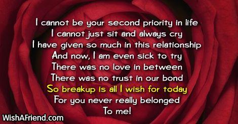 Breakup Messages for Boyfriend