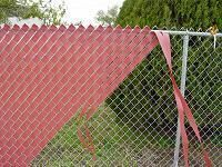 Fence weave installation for privacy