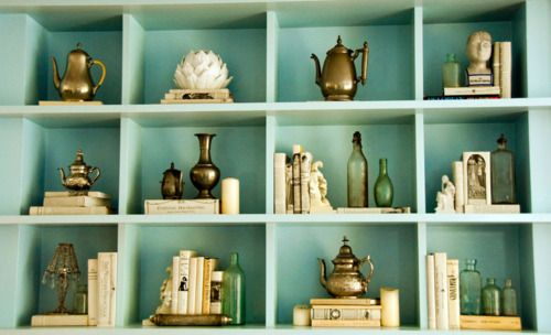 Vogue - At home with Coco RochaDecor, Ideas, Bookshelves, Bookcases Style, Colors, Cocorocha, Display, Coco Rocha, Robin Eggs Blue