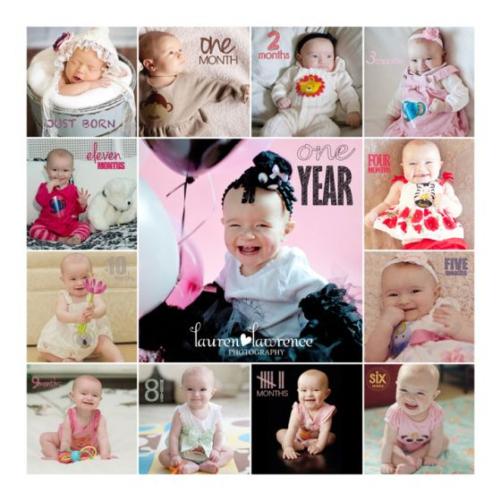 Monthly baby photos and one year photos by Toronto Baby Photographer Lauren Lawrence Photography - http://laurenlawrencephotography.com #toronto #photoamonth #babyphotography #monthlyphoto
