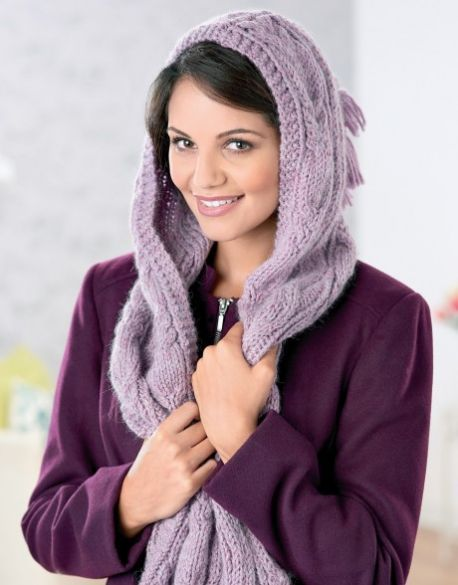 Hooded Scarf Knitting Pattern For Beginners : Best 25+ Hooded scarf ideas on Pinterest Crochet hooded ...