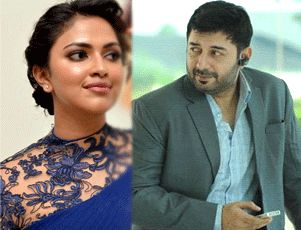 amala & arvind swami in bhaskar the rascal remake