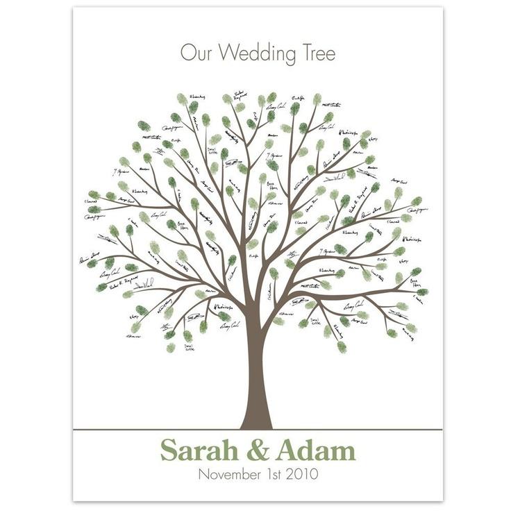 thumb print tree  - guest book