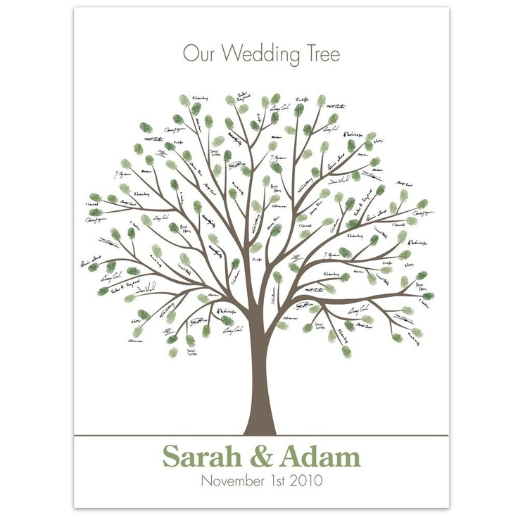 thumb print tree  - guest book