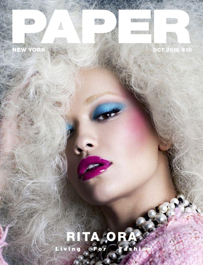 Певица Рита Ора (Rita Ora) украсила обложку октябрьского Paper Magazine. Фотографом стал Николас Мур (Nicolas Moore).
