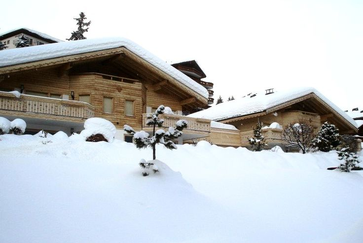 Snow Fall. Crans Montana. Switzerland.
