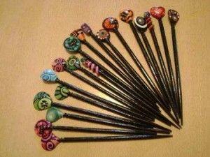 Palillos para el cabello artesanales