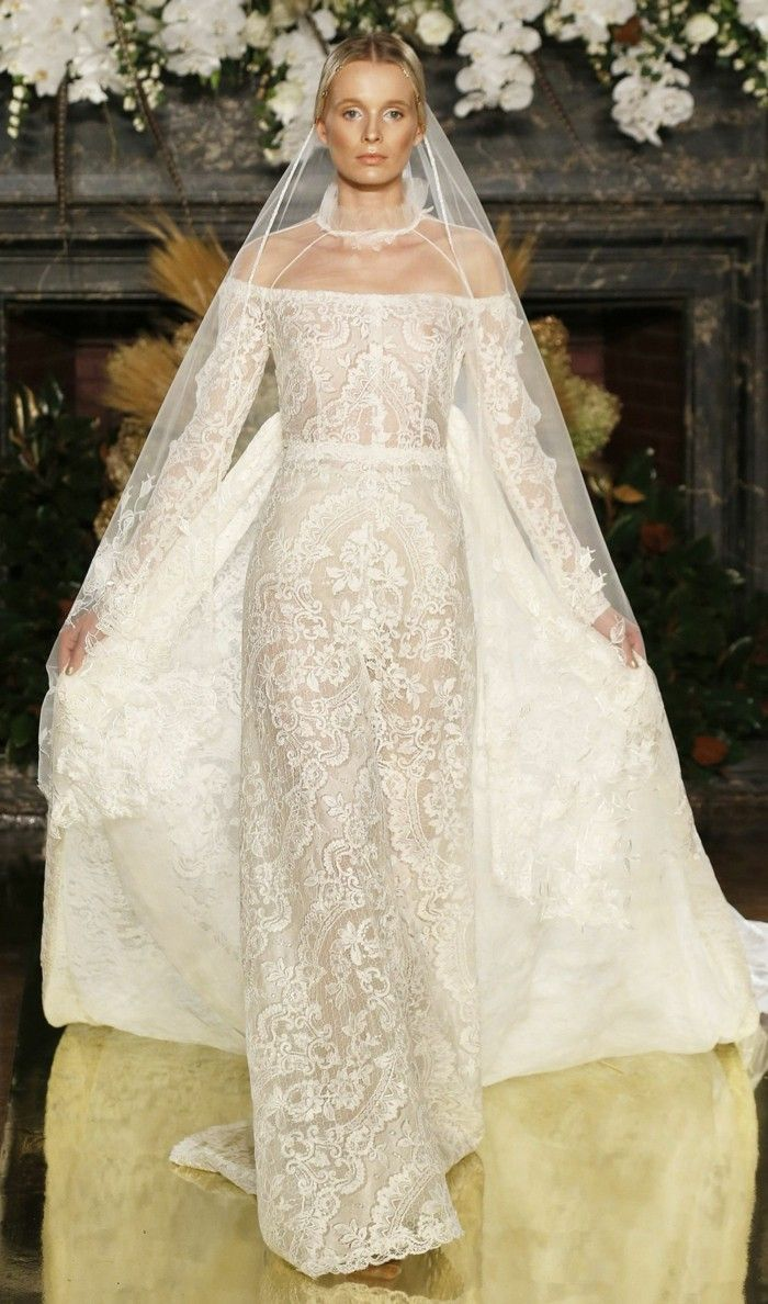 weighted shoulder wedding gowns 2017
