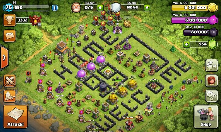Coc my base th 8