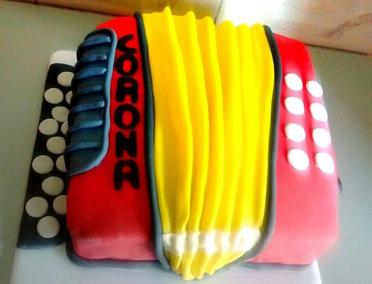 #acordeon #accordeon #cake #ponque #pastel #vallenato #cumpleaños #birthday #music #regalo #gift #vainilla #frutosrojos