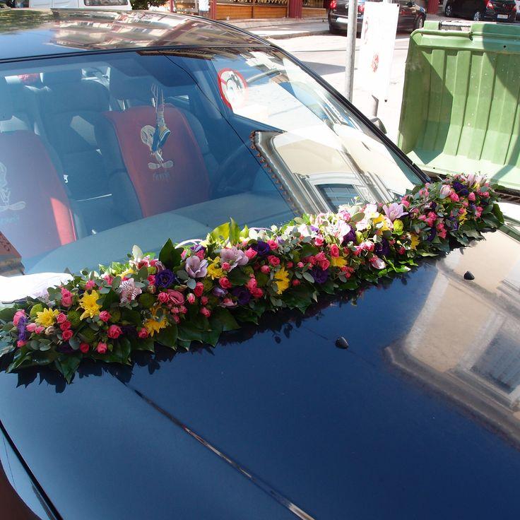γιρλάντα στολισμός αυτοκινήτου..Δεξίωση | Στολισμός Γάμου | Στολισμός Εκκλησίας | Διακόσμηση | Γάμος σε Νησί - Παραλία.