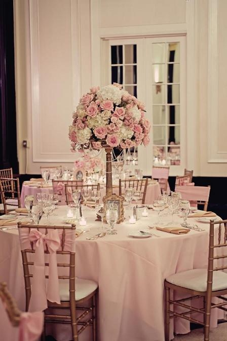 Our wedding <3  pink tea roses and white hydrangeas with pearls Flowers by Greg Warren Photography by Nina Sutherland
