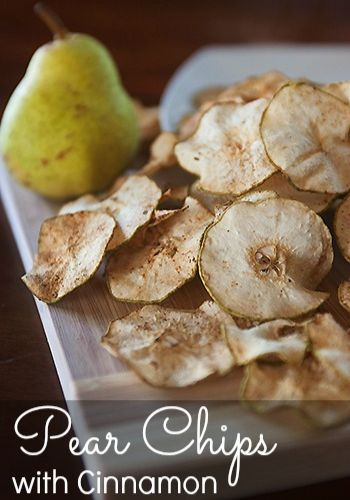 Healthy Snack Alternatives: Pear Chips with Cinnamon