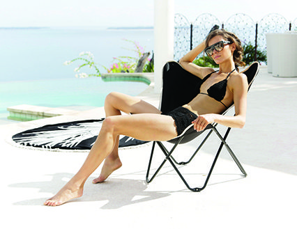 Santa Cruz Butterfly Folding Beach Chair