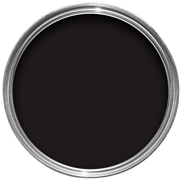Colours quick dry exterior black satin paint 2 5l departments diy at b q home shopping - Matt exterior paint image ...