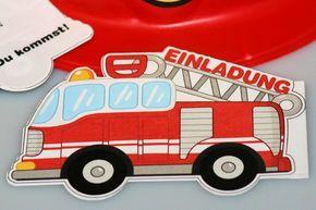 Feuerwehr Einladung für einen Feuerwehr-Geburtstag für Kinder: Tatüt-tata hier kommt die Feuerwehr! Ein Kindergeburtstag mit Blaulicht und Wasserschlauch ...