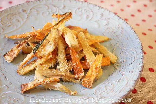 Frittura di Nastri di Verdure or fried vegetable ribbons