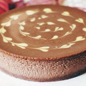 Nutella cheesecake with chocolate shortbread crust recipe