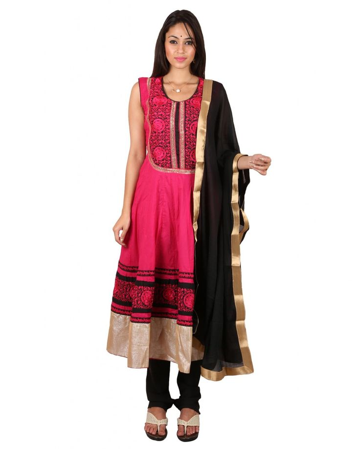 Organic Electric Pink  Cotton Salwar Suit