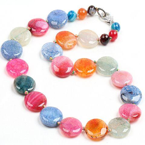 Купить Прекрасный дизайн сплюснутый форма многоцветный огненный агат женщина ожерельеи другие товары категории Прочеев магазине Lucky Fox JewelryнаAliExpress. Прочее
