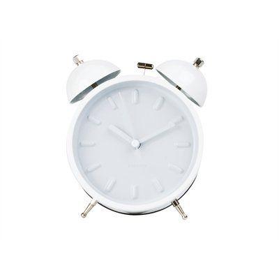 Alarm Clock Twin Bell- Nude white