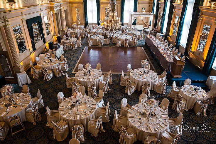 7th floor ballroom of the Hotel Fort Garry.  Wedding reception site.