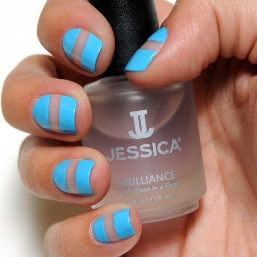 The new french mani.I love that!