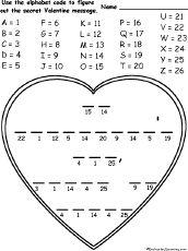 Valentine alphabet code