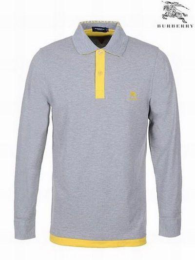 polo ralph lauren cheap Burberry Pique Cotton Long Sleeve Men's Polo Shirt Grey http://www.poloshirtoutlet.us/
