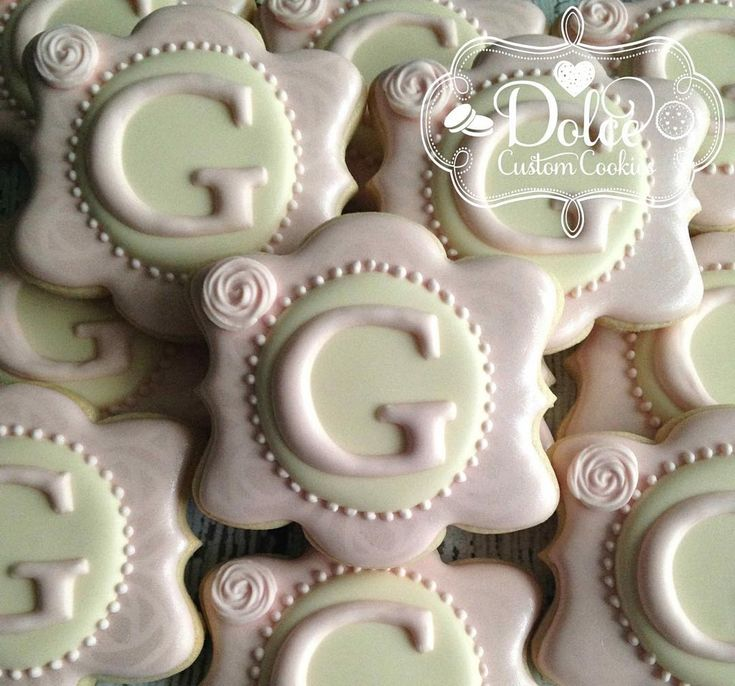 25  best ideas about monogram cookies on pinterest