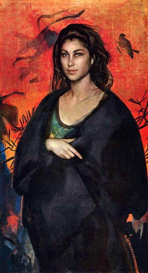 Pietro Annigoni (1910-1988) La Strega Tempera grassa su tela