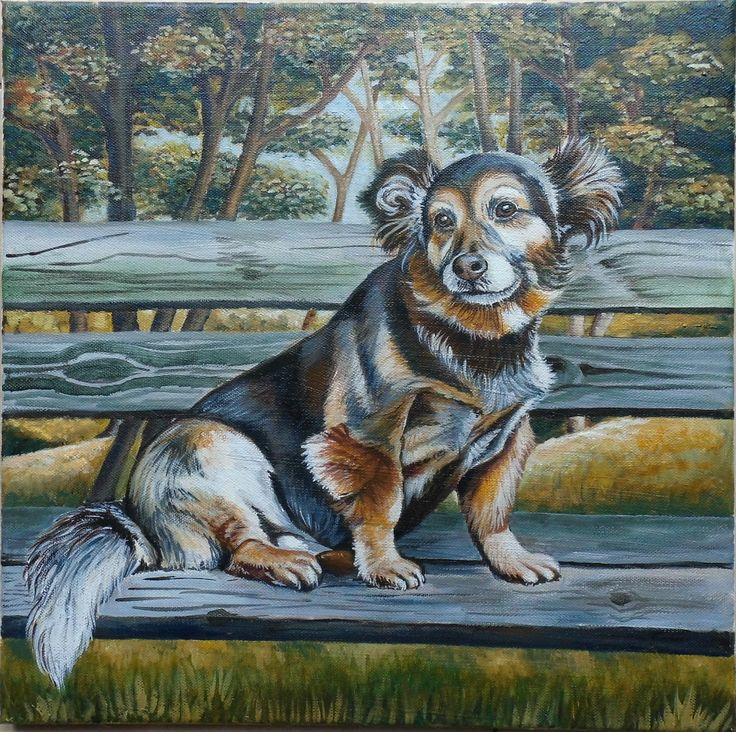 Oil painting - dog