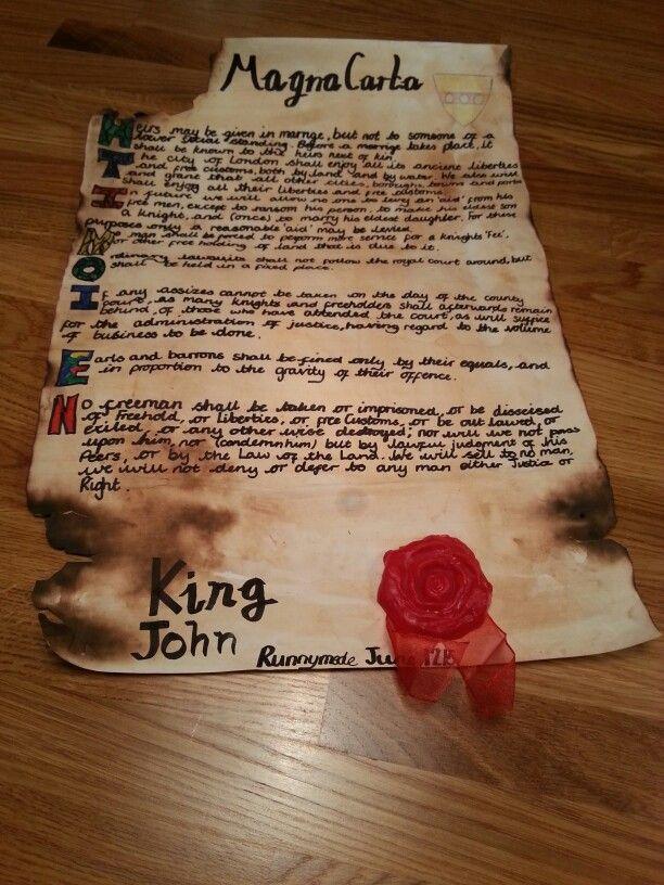 Char's Magna Carta yr7