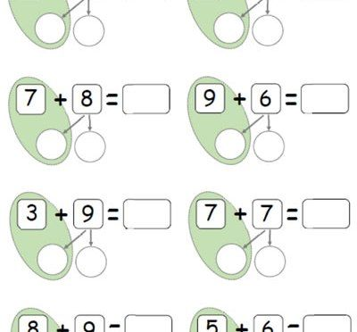 Adding 2 digit numbers using number bonds to 10