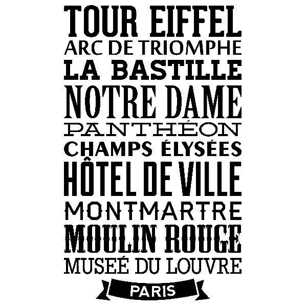 Vinilos Decorativos: Tipográfico París