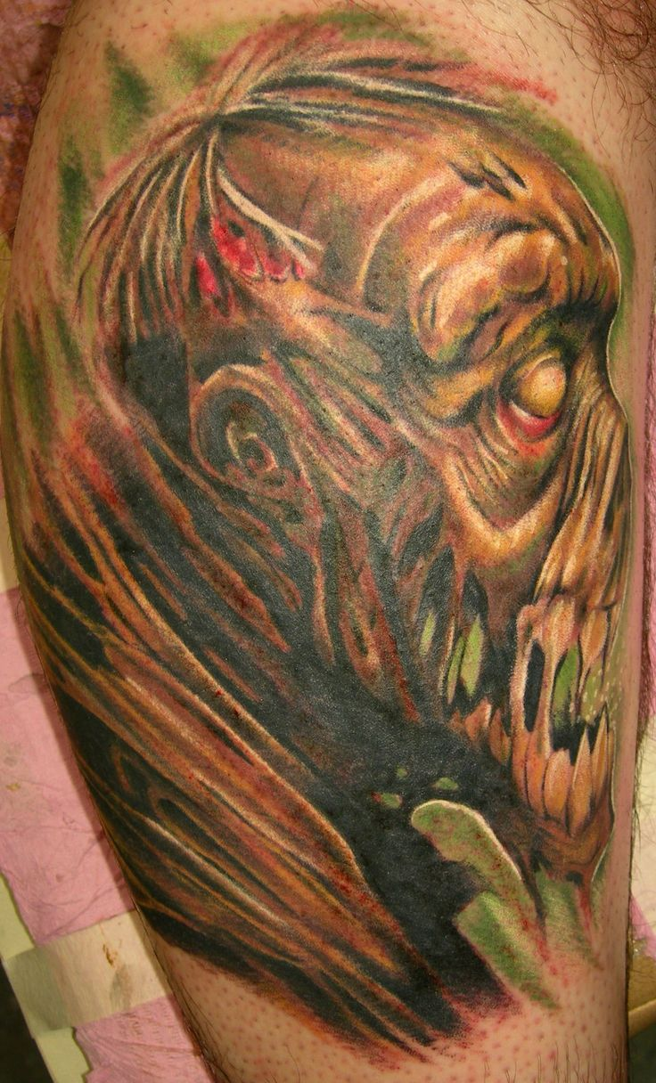 20 Awesomely Creepy Horror Tattoo Designs | http://www.barneyfrank.net/horror-tattoos/